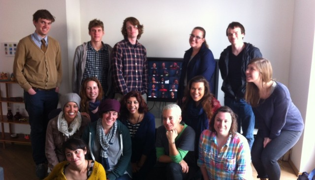 Program participants with video artist Candice Breitz.